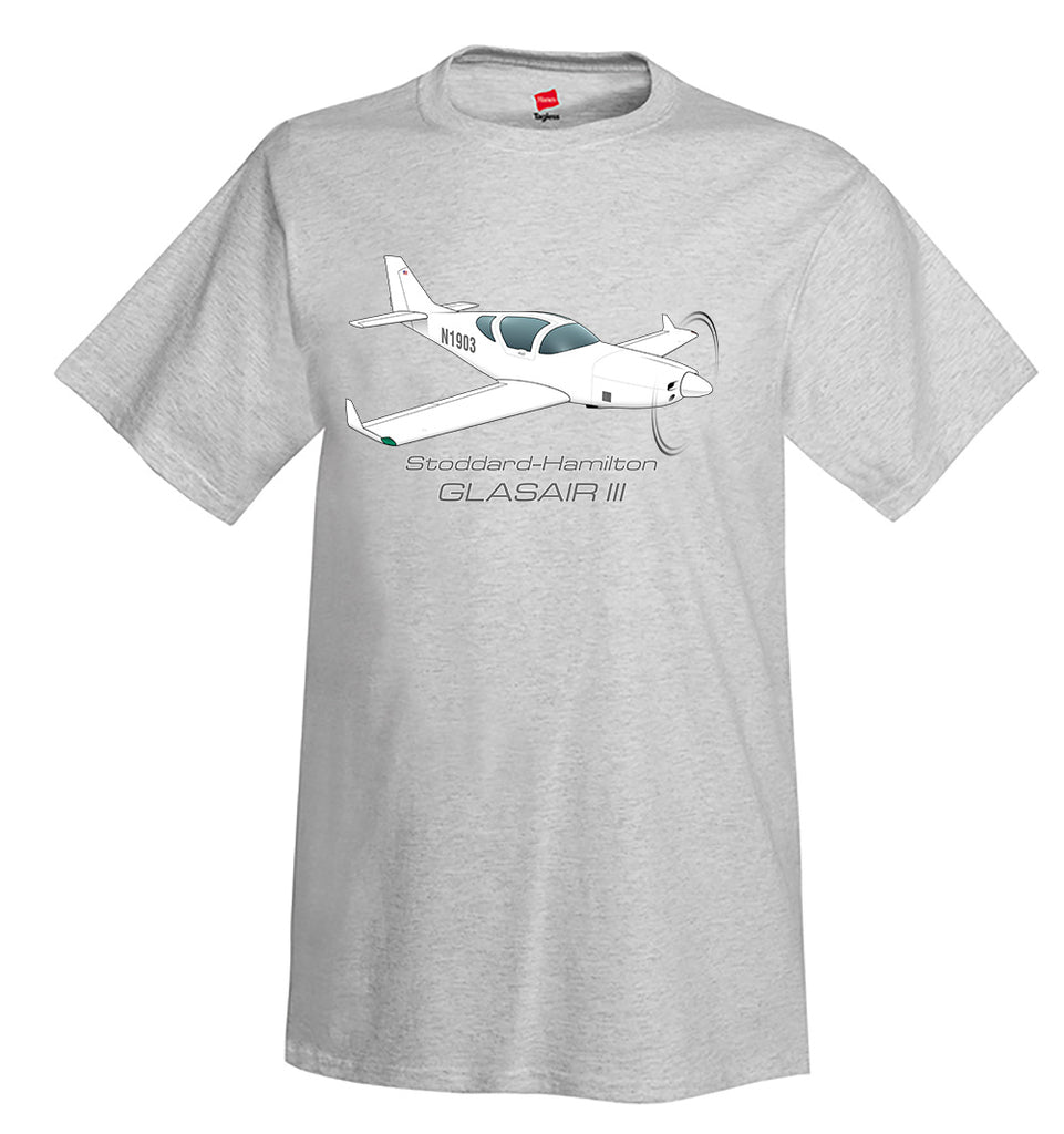 Stoddard-Hamilton Glasair III Airplane T-Shirt - Personalized w/ Your N#