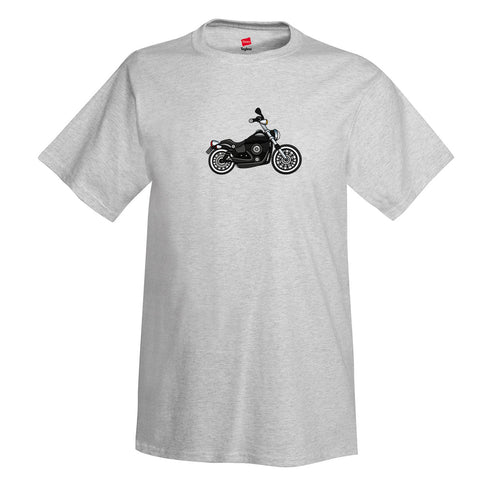 Motorcycle T-shirt MOTR81I-BLK1 - Personalized with Your Reg N#