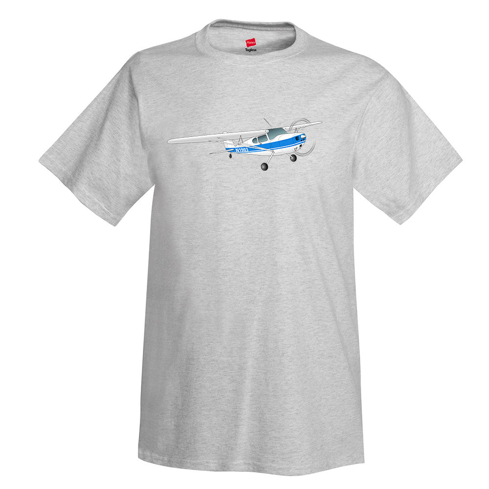 Airplane T-shirt (Blue) AIR35JJ120-B1 - Personalized with Your N#