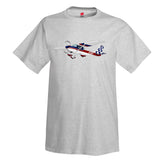 Airplane T-shirt  (Blue/Red) - AIR35JJ152-RB1 - Personalized w/ Your N#