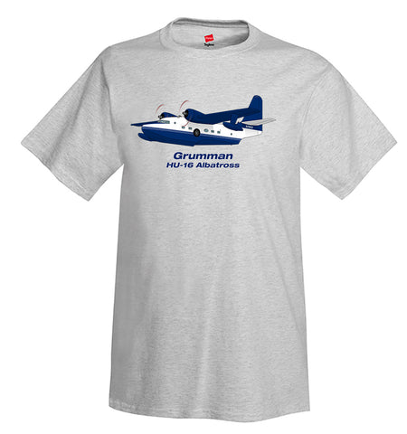 Grumman HU-16 Albatross (Blue) Airplane T-Shirt - Personalized