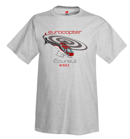 Eurocopter AS350 Ecureuil Helicopter T-shirt - Personalized with Your N#