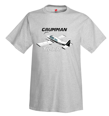 Grumman American Tiger AA1-5B Airplane T-Shirt - Personalized w/ Your N#