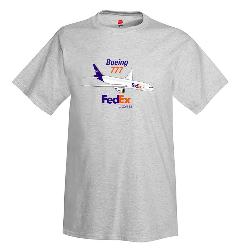 Boeing 777 FedEx Airplane T-Shirt - Personalized w/ Your N#