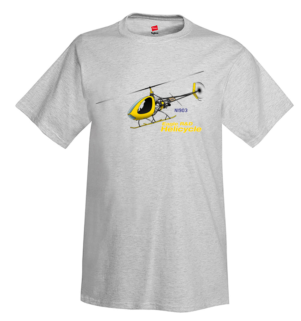 2008 Eagle R&D Helicycle Airplane T-Shirt - Personalized w/ Your N#