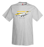 Pilatus PC-24 (Yellow/Silver) Airplane T-Shirt - Personalized w/ Your N#