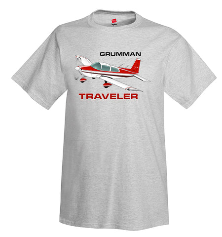 Grumman Tiger (Red #3) Airplane T-Shirt - Personalized w/ Your N#