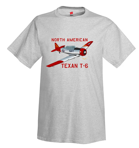 North American Texan T-6 Airplane T-Shirt - Personalized w/ Your N#