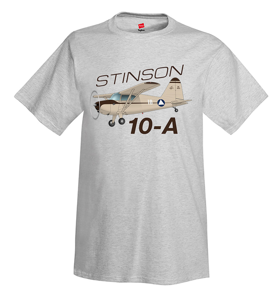 Stinson 10-A Airplane T-Shirt - Personalized with Your N#