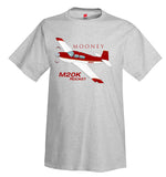 Mooney M20K / 252 TSE (Red/Gold) Airplane T-Shirt - Personalized w/ Your N#