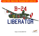 Consolidated B-24 Liberator (Witchcraft) Airplane T-shirt- Personalized with N#