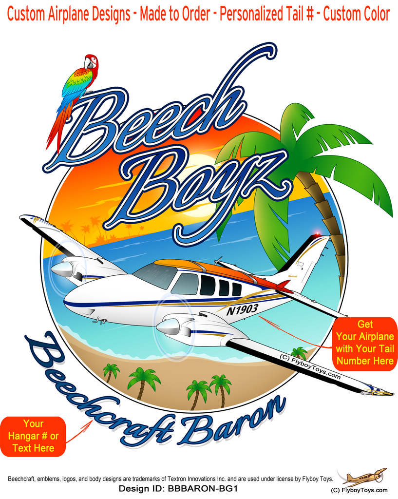 Beech Boyz Beechcraft Baron Airplane Design