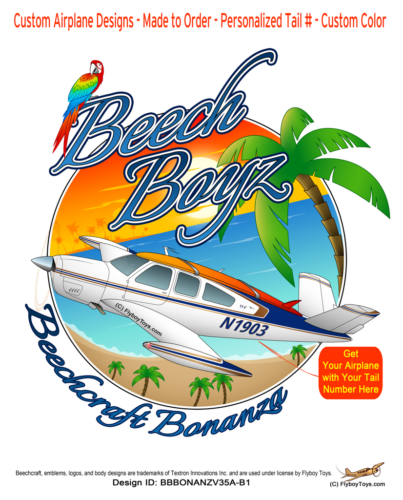 Beech Boyz Beechcraft Bonanza V35A V-Tail Airplane Design