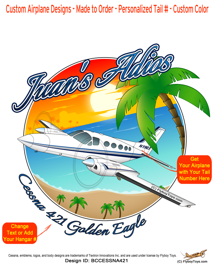 Beach Cessna 421 Golden (Blue) Eagle Airplane Design