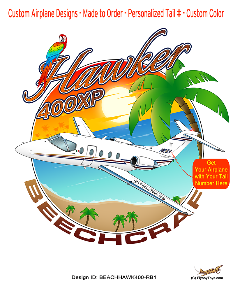 Beach Beechcraft Hawker 400XP (Red/Blue) Airplane Design