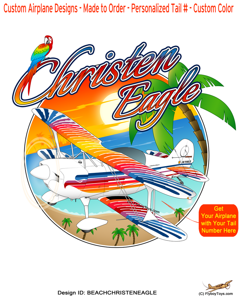 Beach Christen Eagle Airplane Theme
