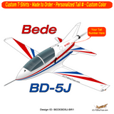 Bede BD-5J Custom Airplane T-shirt - Personalized with Your N#
