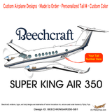 Beechcraft Super King Air 350 (Silver/Blue) Airplane Design