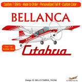 Bellanca Citabria 7KCAB (Red) Airplane T-shirt- Personalized with N#
