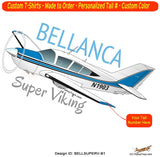 Bellanca Super Viking (Blue) Airplane T-shirt- Personalized with N#