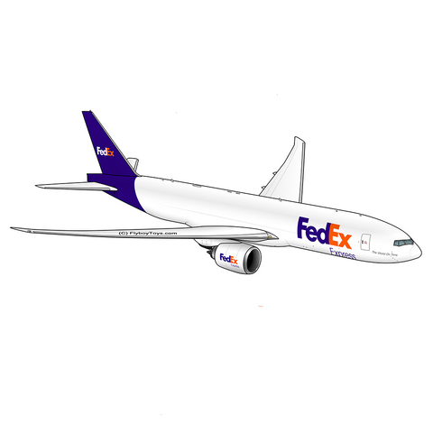 Boeing 777 FedEx (Blue/Orange) Airplane Design