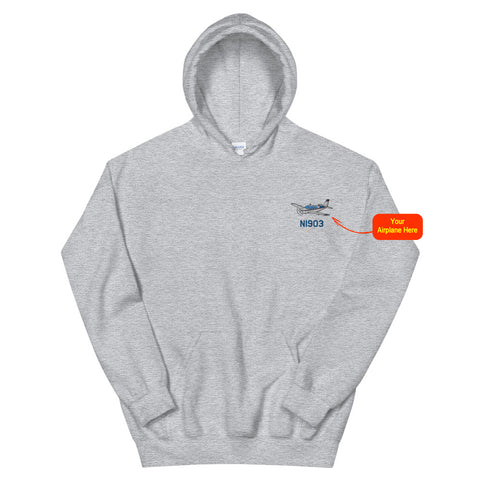 Custom Embroidered Gildan Hoodie - Personalized w/ your Airplane Aircraft