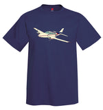 Airplane T-shirt (Beige/Red/Blue) AIR25521I-BRB1 - Personalized with Your N#
