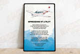 Impressions Airplane Metal Sign - SIGN-IMPRESSIONS-AIR2552FEA36-OR1