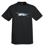 Airplane T-shirt (Blue/Gold) AIR2552FEB35-BG1 - Personalized with Your N#