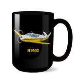 Airplane Ceramic Custom Mug AIR2552FEJ35-YB1 - Personalized w/ your N#