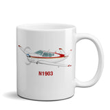 Airplane Ceramic Custom Mug AIR2552FEM35-RG1 - Personalized w/ your N#
