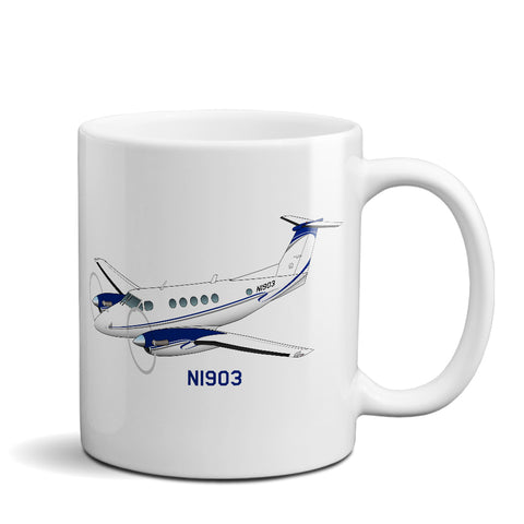 Airplane Ceramic Custom Mug AIR255JLG-B1 - Personalized w/ your N#