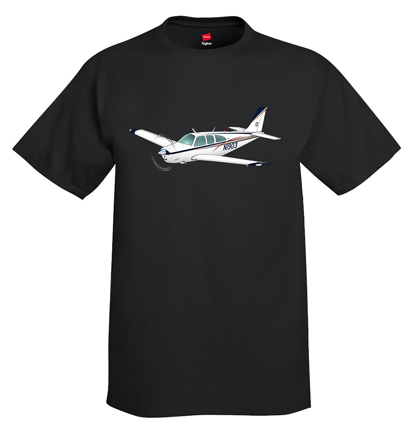 Airplane T-shirt (Blue/Red/Gold) AIR2552FEE33A-BRG1 - Personalized with Your N#