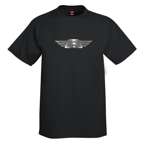 Just Wing It Airplane Aviation T-Shirt