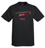 Custom Helicopter T-Shirt Personalized with your N# - HELI25C407-R1