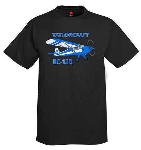 Taylorcraft BC-12D Airplane T-Shirt - Personalized with Your N#