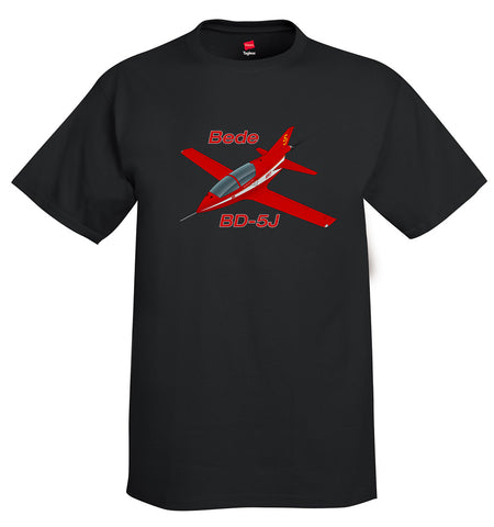 Bede BD-5J (Red #2) Airplane T-Shirt - Personalized w/ Your N#