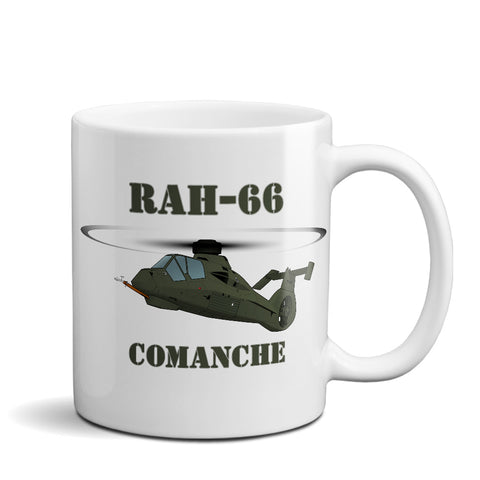 Boeing–Sikorsky RAH-66 Comanche Helicopter Ceramic Mug - Personalized