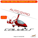 AutoGyro Calidus 912 Airplane T-Shirt - Personalized with Your N#