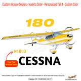 Cessna 180 Skywagon (Yellow) Airplane Design