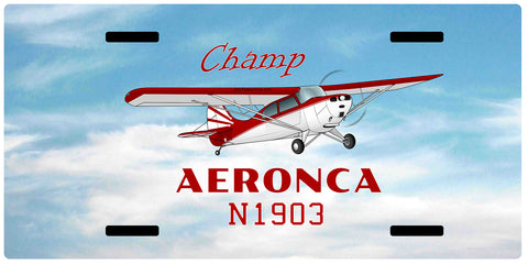 Aeronca Champ 7AC Airplane License Metal Plate - Add Your N#