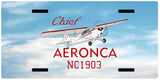 Aeronca Chief Airplane License Metal Plate - Add Your N#