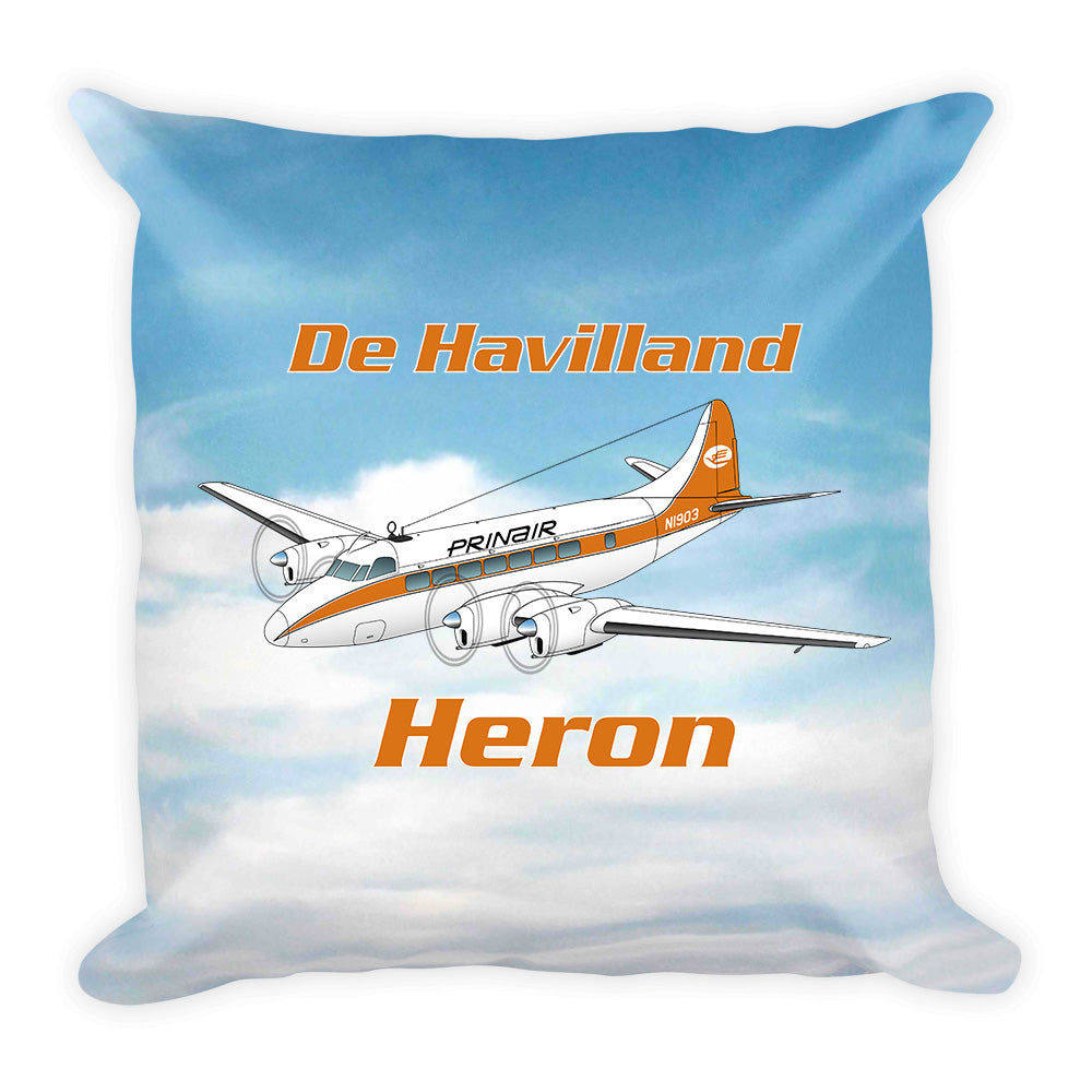 De Havilland DH-114 Heron Airplane Custom Throw Pillow Case Stuffed & Sewn