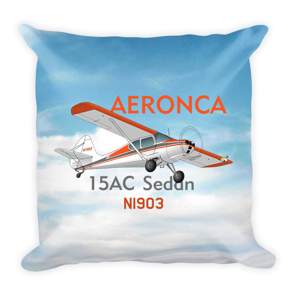 Aeronca 15AC Sedan Airplane Custom Throw Pillow Case Stuffed & Sewn