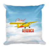 Aeronca Chief (Yellow) Airplane Custom Throw Pillow Case Stuffed & Sewn