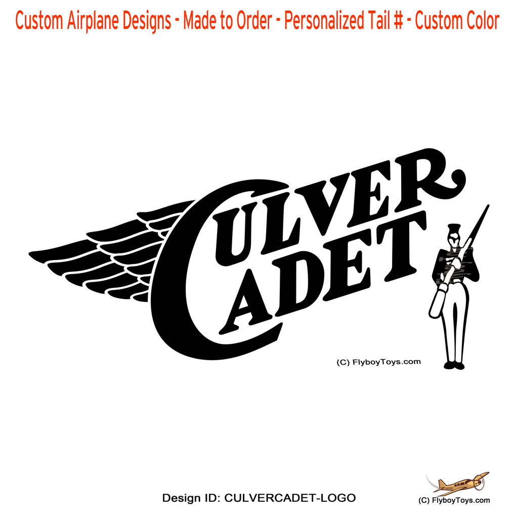 Culver Cadet Airplane Logo Design