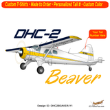 De Havilland DHC-2 Beaver Airplane T-shirt - Personalized with Your N#