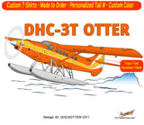 De Havilland DHC-3T Otter Airplane T-shirt- Personalized with N#