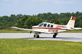 Beechcraft Bonanza A36 Orange Black model 1