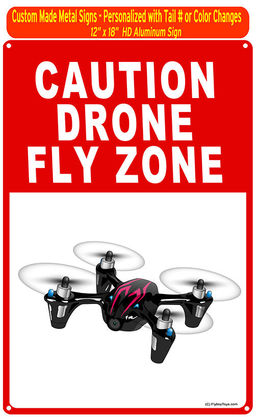 Hubsan Custom HD Metal Drone Sign - Black/Red